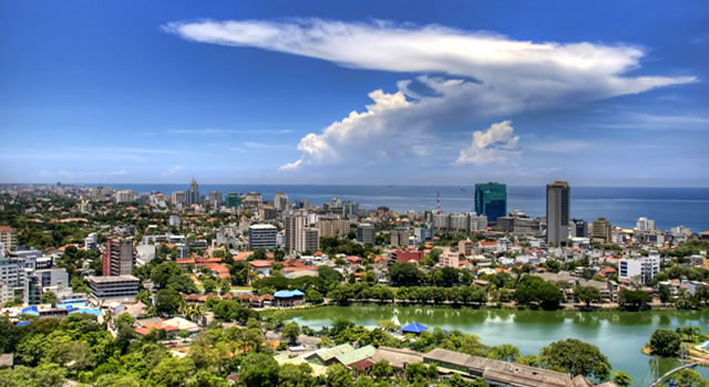 Breathtaking view over the city of Colombo